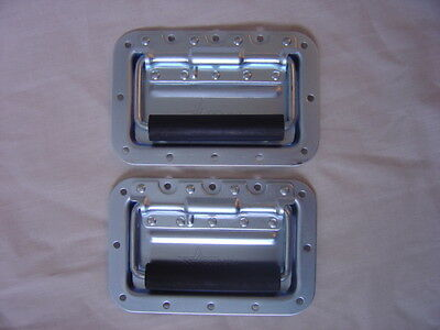Case hardware new Recessed spring loaded handles (pair)