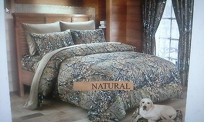 18 piece the woods natural camo design comforter set,  all sizes, 12  colors