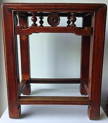 Antique Chinese Oxblood Wood Table /stand