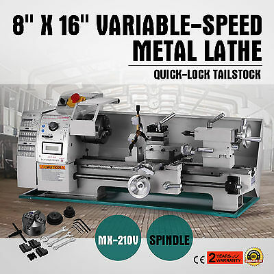 8 x 16Variable-Speed Mini Metal Lathe With Accessory Package