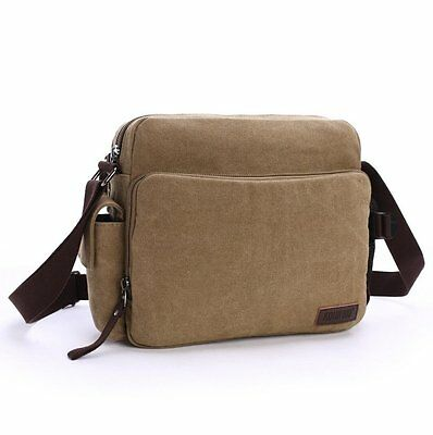 Vintage Men's Canvas Crossbody Shoulder Messenger Bag School Book Bags Satchel