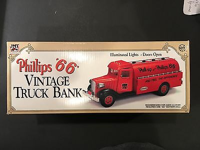 1993 PHILLIPS '66' VINTAGE TRUCK BANK 1st IN SERIES JMT REPLICAS CHINA MINT IUOB