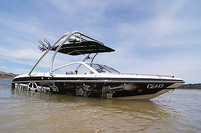 """Wakeboard tower mounted Bimini """"1 inch Stainless Steel frame""""   Zip Off cover !!"""