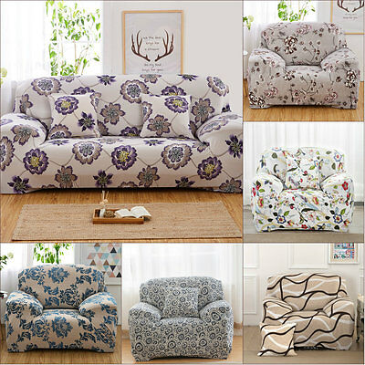 1 2 3 4 Seater L Shape Stretch Chair Sofa Couch Protector Full Cover Slipcover