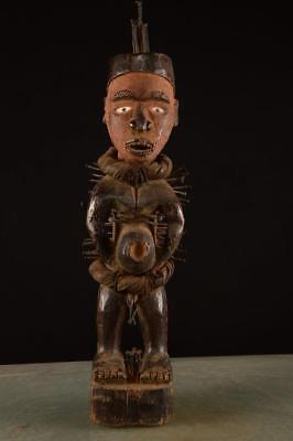Old Tribal Bakongo Figure Nail Festish Congo Africa ........Fest-166