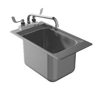 """Advance Tabco 13""""x19"""" Stainless Steel Drop-In Bar Sink w/ 4"""" Faucet - DBS-1-X"""