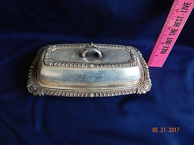 Vintage silver plate butter dish