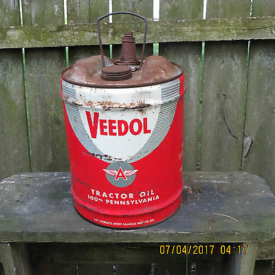 Vintage Veedol Five Gallon Oil Can