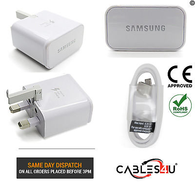 SAMSUNG GALAXY S7 EDGE-Fast UK Wall Charger & Micro USB Data Transfer Cable Lead