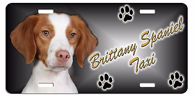 Brittany Spaniel  Taxi Line License Plate (((( SPECIAL LOW CLEARANCE PRICE ))))