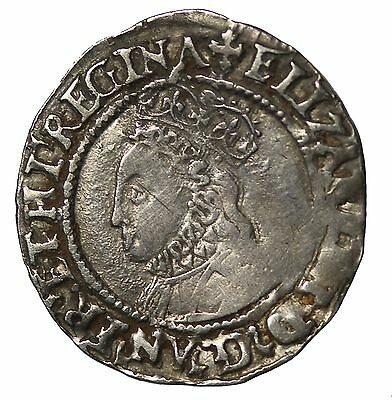 Great Britain Elizabeth I 1560-1561 AD AR Silver HalfGroat S.2557