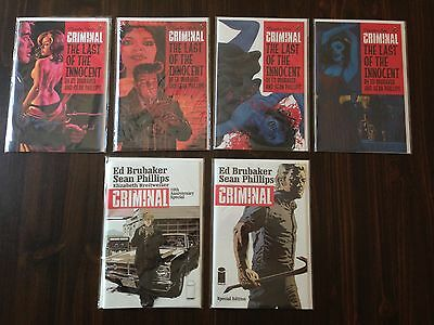 Criminal: Last of the Innocent 1-4, 10th Anniversary, Special Edition Comics SET