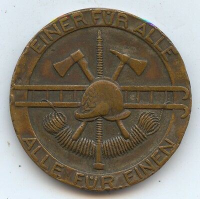 Germany Bonn 1924 Fire Brigade Medal (#1086) Rough Edges. As Made? 33MM.