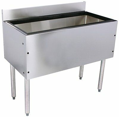 Glastender Choice Stainless Steel Commercial Back Bar Ice Bin 42""
