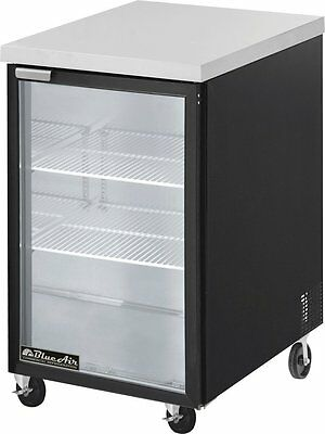 "Blue Air 23"" Glass Back Bar Cooler BBB23-1BG with 1 Door"