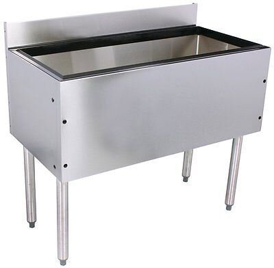 Glastender Choice Stainless Steel Commercial Back Bar Ice Bin 18""
