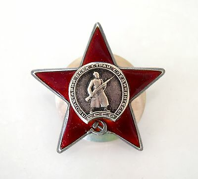 Russian Soviet Order Medal Badge of the Red Star Original Mint Condition