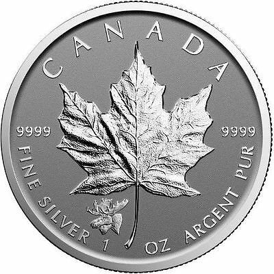 2017 Moose Privy Canadian Maple Leaf  Reverse Proof 1oz Silver Coin Low Mintage