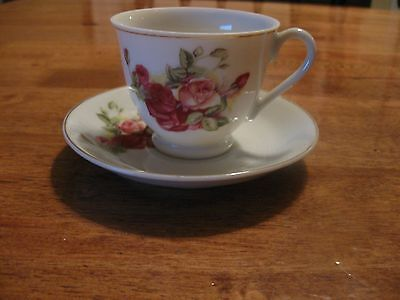 Betson's Hand Painted Demitasse Cup And Saucer