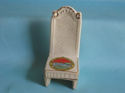 Coronet Ware [china] Chair - THE ISLAND & ROYAL MANOR PORTLAND crest