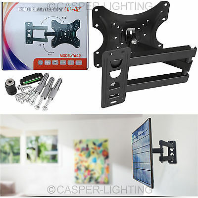 "Tilt Swivel Plasma LCD TV Wall Bracket Mount For 14"" 21"" 23"" 26"" 32"" 37"" 40"" 42"""