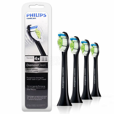 Philips Sonicare Diamond Clean 4 X Brush Heads Hx6064/33 Black