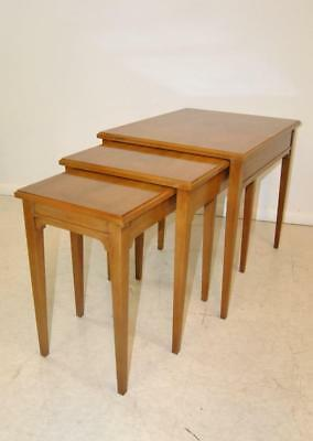 Mid Century Modern Set Of 3 Mahogany Nesting Tables By Drexel Heritage