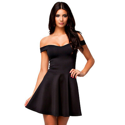 Suzanjas black Skater dress with Carmen-clipping 0594eb90a