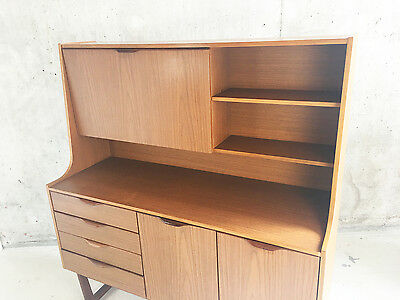 1970's mid century Europa Furniture tall sideboard / cabinet with teak veneer