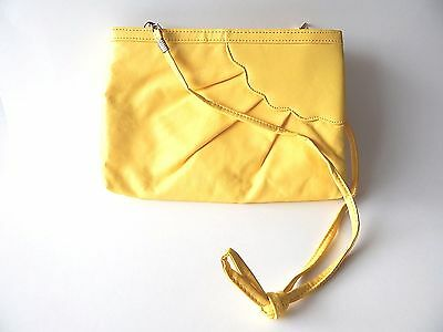 Vintage 1980's Shoulder Clutch Handbag Purse Retro Yellow Sunshine Cloud Design