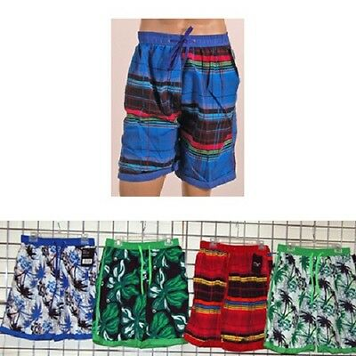 Northwest Blue men's print swim short 36pcs. [12MBN2-2P]
