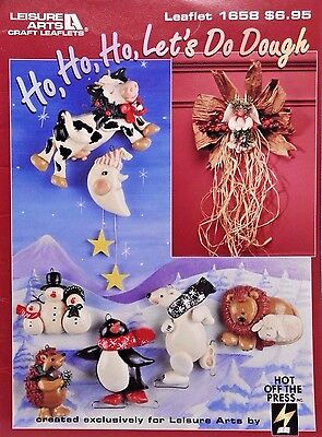 Dough Ornament Craft Leaflet #1658 Ho, Ho. Ho, Let's Do Dough. Leisure Arts 1259