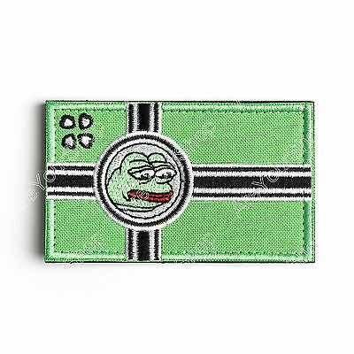 PATCH ARMY MORALE TACTICAL MORALE BADGE HOOK LOOP PATCH Green BS1