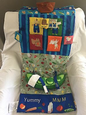 INFANTINO 3-In-1 Shopping Grocery Cart High Chair COVER & PLAY MAT Farm Toys