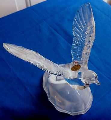 """Cristal D'Arques 24% Lead Crystal Bird with Outspread Wings 5 1/2"""" Tall / France"""