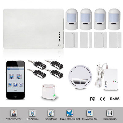 Kit Allarme Antifurto Casa Ufficio Centralina Wireless Gsm Pir Phone System It