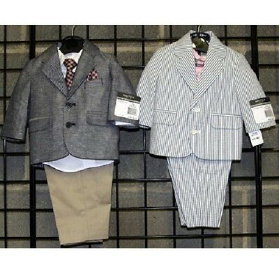 Nautica Boys 0-9M suits with shirt and tie 12 [NNBB4PSUIT]