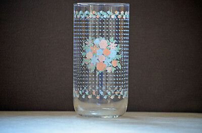 Vintage Newcor Corsage Beverage Glasses Floral Glasses Kitchen Glasses 80s