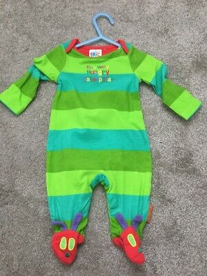 BNWOT Very Hungry Caterpillar Baby Sleepsuit. Newborn - Up To 9lbs