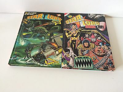 Starlord Vintage 1980 & 1981 Comic Annual Hardback Collectible Books