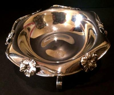 ROGERS SMITH & CO SILVERPLATE Antique Footed Candy Dish