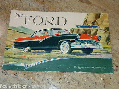 1956 Ford  Car Dealer Brochure / Full Line Poster--NO RESERVE--