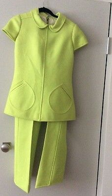 Vintage COURREGES PARIS 1960s Space Age Ensemble S Museum Quality