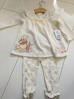 BNWT Baby Girls Disney Winnie Pooh Dress Leggings 12-18 M