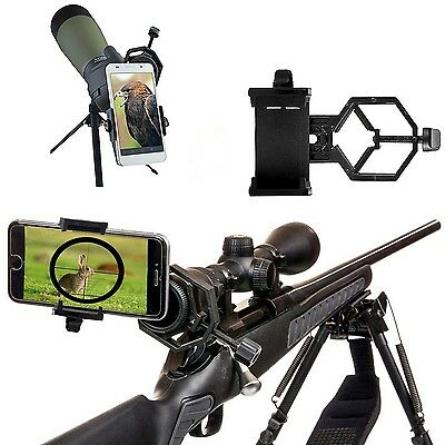 Universal Mobile Phone Holder Spotting Scope Microscope Cellphone Adapter Mount