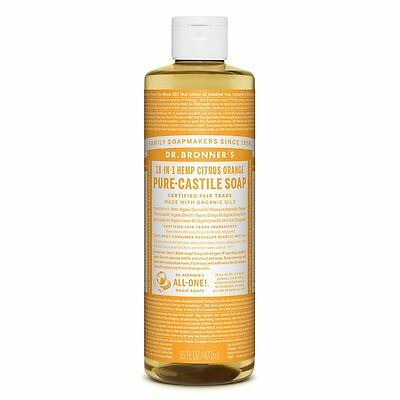 Dr Bronner's Pure Liquid Castile Soap Citrus Orange Dr Bronners 237 ml Vegan
