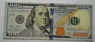 GREAT ONE~ $100 2009 ~ US Hundred Dollar Bill (1) STAR *NOTE  UNCiRCULATED!