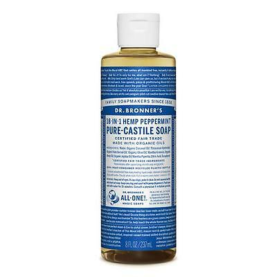 Dr Bronner's Pure Liquid Castile Soap Peppermint 237ml