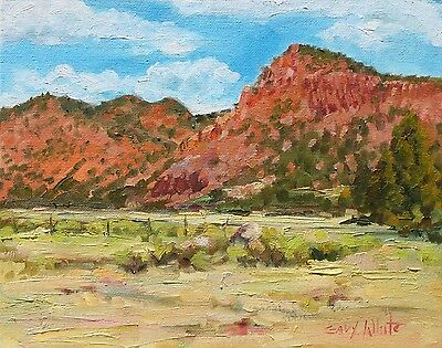 "Southwest art, oil painting, original 8""x10"" canvas panel signed by Gary White"