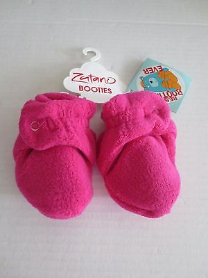 Zutano Cozie Fleece Bootie - 6 Month Or 12 Months - Fuchsia